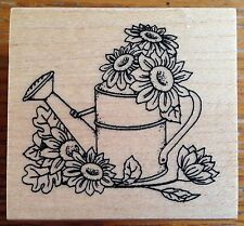 Great Impressions Watering Can Daisy Flowers Rubber Stamp E620