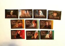 RARE 2001/02 LORD OF THE RINGS FELLOWSHIP & TWO TOWERS MOVIE PROMO 10 PIN SET