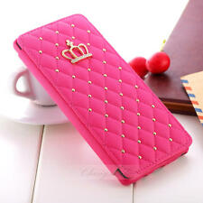 Cute Crown Bling Diamond Wallet Card Leather Case For Samsung Note 8 S8 Plus S8
