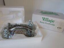 Dept 56 52646 Village Stone Footbridge Mint In Box D5