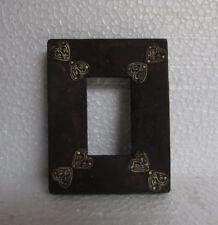 Vintage Hand Carved Wooden Brass Fitted Picture Photo Frame, Collectible