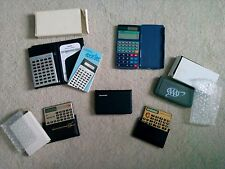 Lot of 6 Collectible/Usable Calculators avstar, Casio, Aaa, Sharp, Amex, McAuto