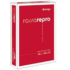 5 RISME CARTA FOTOCOPIE BURGO ROSSA REPRO 80N 210X297MM 80GR / 39079