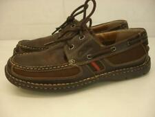 Men's 10 M Clarks XTR Lite Boat Shoes Brown Leather Lace-Up Casual Comfort Tie