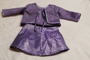 American Girl Limited Edition 2000 Millennium Purple Party Dress Outfit