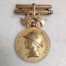 Vintage Honor Firefighter Medal Republique Francaise