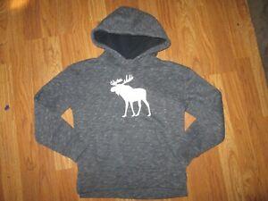 Boys ABERCROMBIE & FITCH  hoodie hooded sweatshirt sz 7 / 8