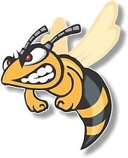 Vinyl sticker/decal Large 180mm angry hornet - facing left