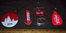 COCA - COLA  ARCTIC HOME HOLIDAY ORNAMENT NEW & 3 COCA - COLA KEYCHAINS USED