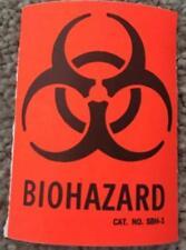 10 Pc Lot Neon Orange Biohazard Sticker Halloween Decoration