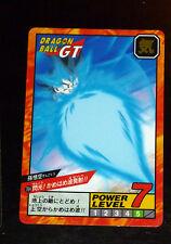 DRAGON BALL GT Z DBZ SUPER BATTLE POWER LEVEL CARD HIDDEN PRISM CARTE 764 JAP 96