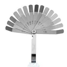 16 Blatt Abstandslehre Fühlerlehre Ventillehre Fühllehre 0,05-1,00 mm Spaltmass