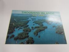 AERIAL VIEW CANADIAN SPAN 1000 ISLANDS INTERNATIONAL BRIDGE  -  POST CARD