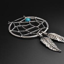 Dreamcatcher Plug Hoops Earrings | Antique Silver | Ear Hangers | Sold As Pair