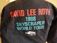 David Lee Roth 1988 Skyskraper Rare Tour Crew Issued Jacket Coat Large