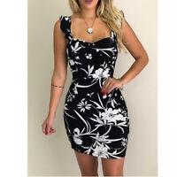 Long Sleeve sundress Casual Maxi Dress beach Floral Loose Fashion V Neck women's