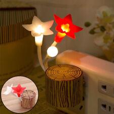 Flower Wall Plug in LED Auto Light Sensor Night Lamp Baby Kids Bedroom Decor