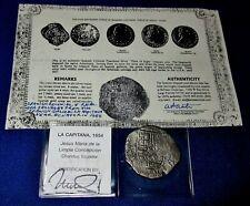 "c.1651-1652 P E ""Crown *F* Counterstamp Shipwreck ""La Capitana"" 8 (7-1/2) Reale"