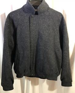 Made In Canada  100% Virgin Wool Coat Jacket Sz 44