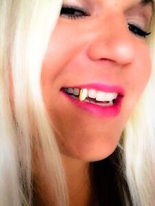 NEW 14k Gold gp VAMPIRE FANG Grill single tooth cap Hip Hop DRACULA Grillz BLING