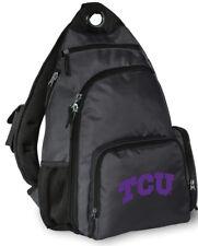 TCU Logo Crossbody Backpack BEST TEXAS CHRISTIAN UNIVERSITY BACKPACKS Cross-Body