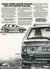 1983 Subaru Station Wagon Traction Original Advertisement Print Art Car Ad J707