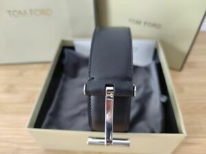 TOM FORD Blue T Icon Black Size 95 cm / 38 Inch (100% Authentic & New)