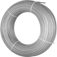 "T316 Stainless Steel Cable Wire Rope,1/8"",7x7,200ft Rigging Cable Railing"