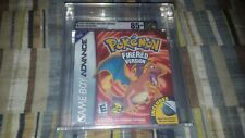 Pokemon Fire Red Version Game Boy Advance New Sealed Graded VGA 85+ wire Adapter