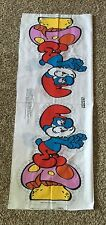 1/2 Yard Vintage Papa Smurf Smurfs Cotton Fabric Pillow Panel DVD Cartoon