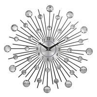 Wall Clock Large Vintage Modern Watch Metal Art Luxury Diamond Design Home Decor
