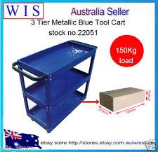 Heavy Duty All Steel Mechanic 3 Tier Tool Cart Trolley 3 Level Tray 150KG Load