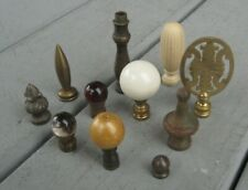 Vintage Antique 11 Lamp Brass Glass Metal Oriental Ball Finials Many Sizes