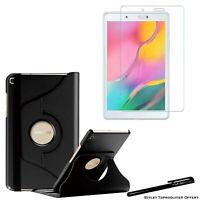 Housse Etui Noir 360° pour Samsung Galaxy Tab A 8.0 T290 + Vitre de protection