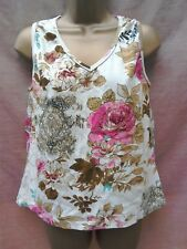 stunning Derhy T-shirt vest top size 18 lace back holiday