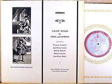 RARE MHS-1427 Couperin LeClair EDUARD MELKUS Violin Sonatas ROGG Harpsichord