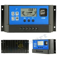 10A Solar Panel Battey Charge Pwm Controller Lcd Dual Usb 5V Output Pv Regulator