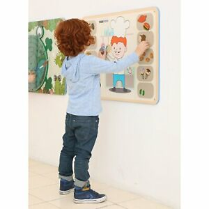 Childrens Classroom Activity Wall Panel Food Themed