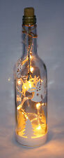 Weihnachts Motive Dekoflasche Weihnachten Deko Flasche LED Weiß Lichterkette