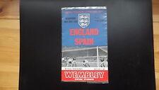 Football Programmes Internationals England V Spain 1967