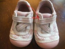 Stride Rite Baby Girls Mary Jane Style Shoes, PInk/White Leather,Farrow, Sz 4.5W