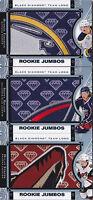16-17 Black Diamond Sonny Milano Rookie Team Logo Jumbos Blue Jackets C 2016