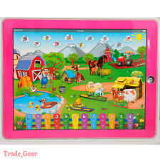 Farm Y-pad Computer Tablet Learning English Education Machine Toy Kids Gift PINK