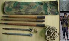 WW2 1940 ORIGINAL GERMAN TENT POLES w/CAMO CANVAS BAG