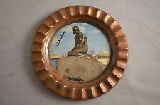 "Vintage Picture of  Denmark's "" Little Mermaid"" on Copper Plate  5 Inch Diameter"