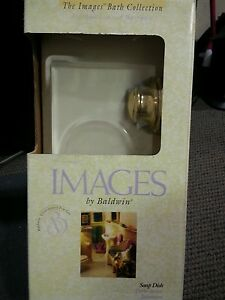 Images by Baldwin soap dish, edgewater/seacrest 3506-030, pol brass, new in box