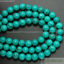 Natural Turquoise Gemstone Round Spacer Beads 2mm 3mm 4mm 6mm 8mm 10mm 12mm 16