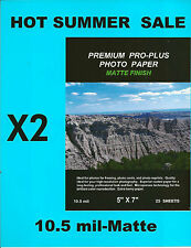 Premium Pro-Plus Matte~5 x 7 Photo Paper~50ct~HARD~TO~FIND~SIZE~IN~A~HEAVY~MATTE