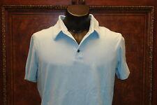 EXPRESS Light Blue Designed Studio Polo Shirt