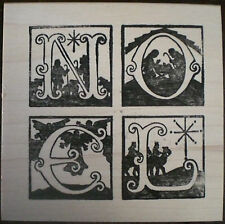 Mounted Rubber Stamps, Holiday, Christmas, Nativity Noel, Christmas Card Stamps